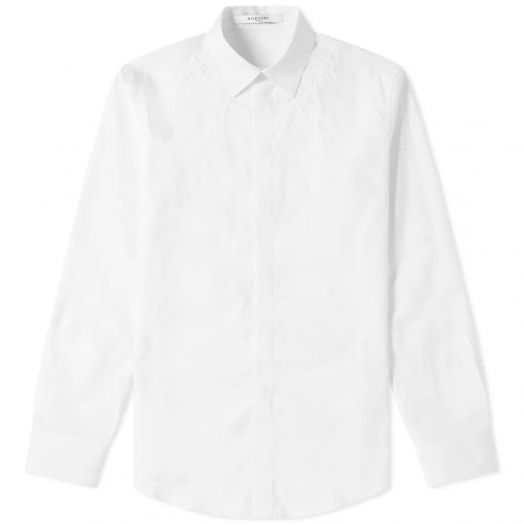 Paris White Star-embroidered Shirt