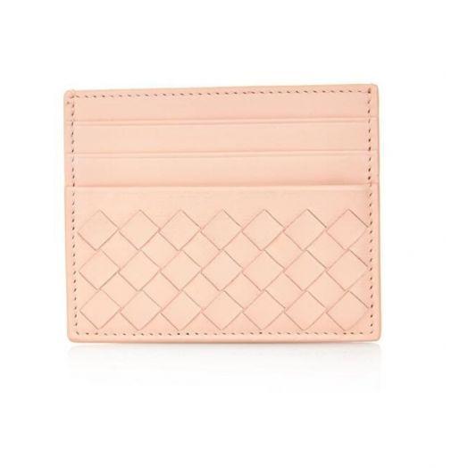 INTRECCIATO NAPPA Pink CARD CASE HOLDER