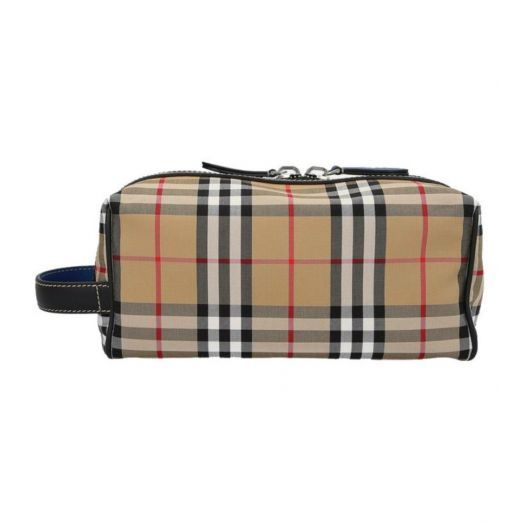 London Check Wash Bag