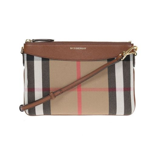 Peyton House Check Tan Brown Crossbody Bag
