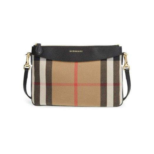 Peyton House Check Black Crossbody Bag