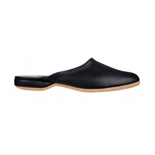 Men's Black Morgan Leather Slipper