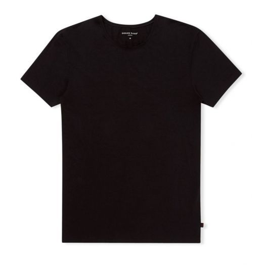 JACK PIMA COTTON STRETCH BLACK CREW NECK T-SHIRT