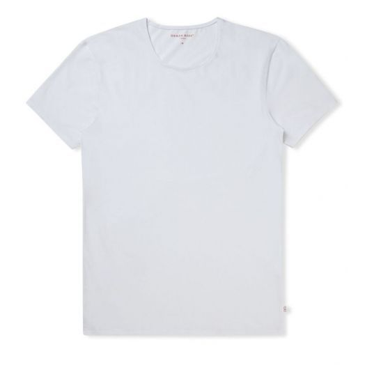 JACK PIMA COTTON STRETCH White CREW NECK T-SHIRT