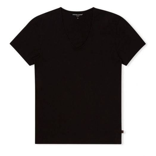 Jack PIMA Cotton Stretch Black V-neck T-shirt