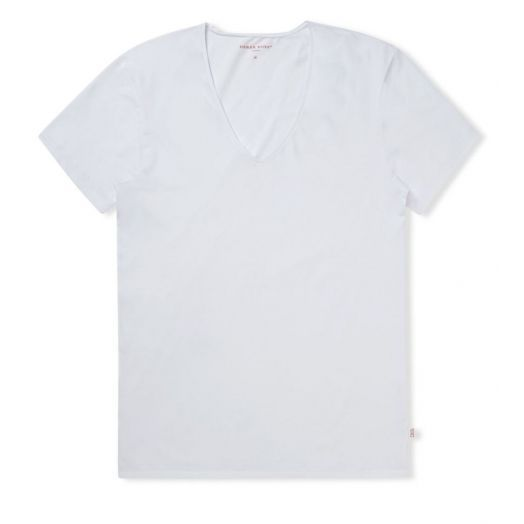 JACK PIMA COTTON STRETCH White V-NECK T-SHIRT