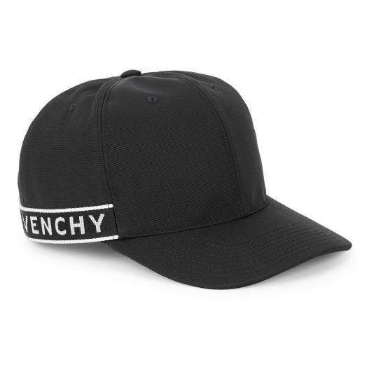 Black Logo Twill Baseball Cap