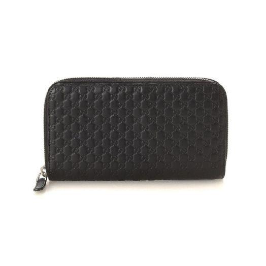 Micro GG Zip Around Black Wallet