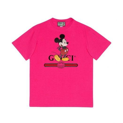 Disney x Gucci Print Oversize Fuchsia Pink T-shirt