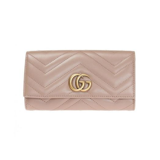 GG Marmont Dusty Pink Continental Wallet