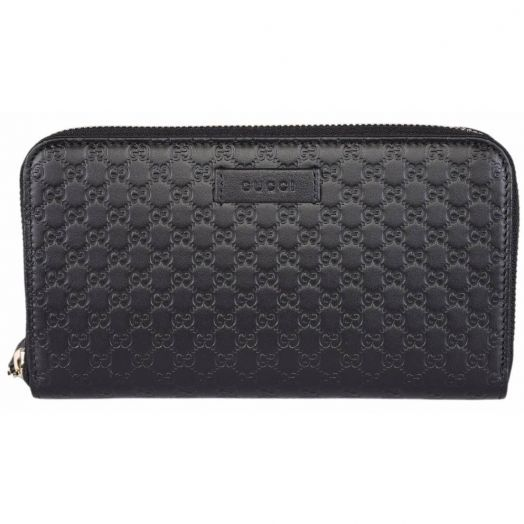 Micro Guccissima Black Leather Wallet
