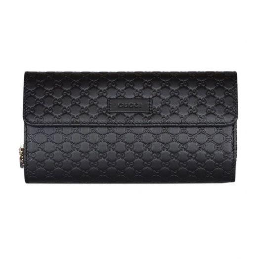 Micro GG Continental Bifold Black Wallet
