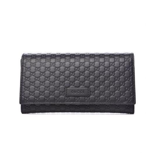 GG Black Continental Flap Wallet