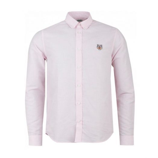 Pink TIGER CREST POPLIN SHIRT