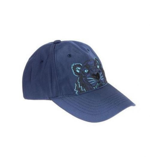 Blue & Black Tiger Canvas Cap