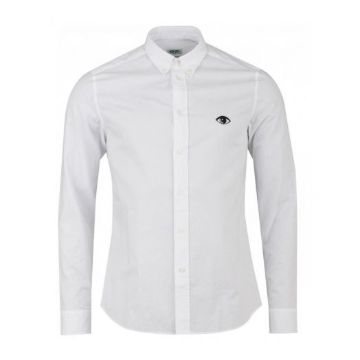 White Eye embroidered button down shirt
