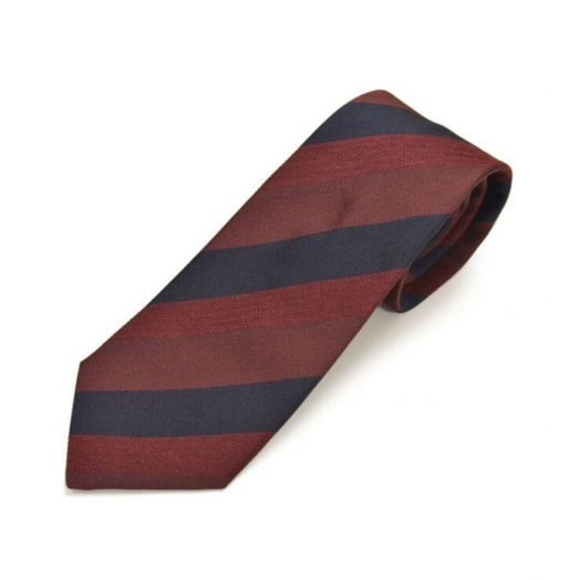 Multi-Stripe Burgundy Blue Tie