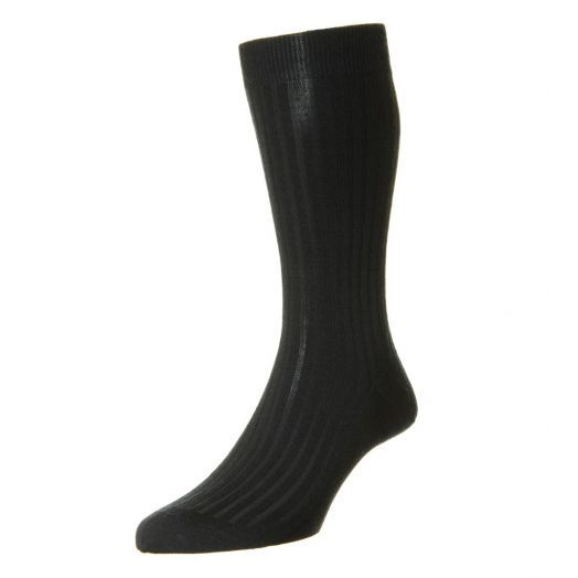 Laburnum Ribbed Merino Wool-Blend Mens Socks