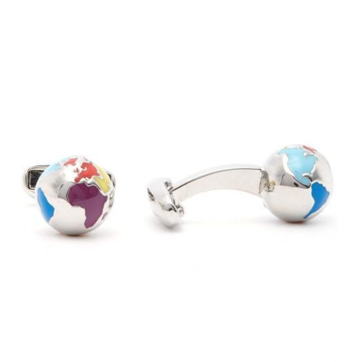 Multi-Coloured Globe Cufflinks