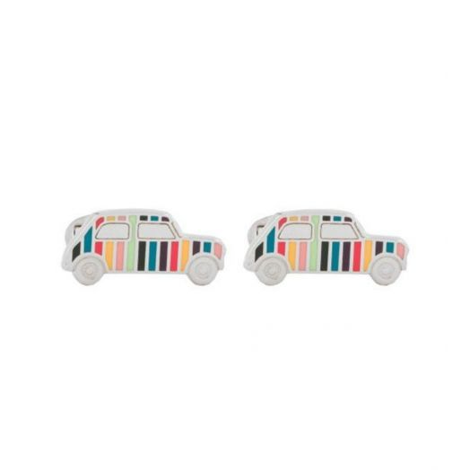 MULTI-COLOURED Artist Stripe Mini Car Cufflinks