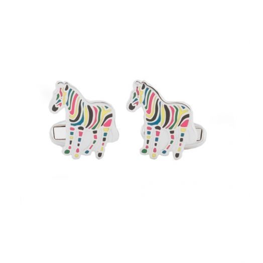MULTI-COLOURED Zebra CUFFLINKS