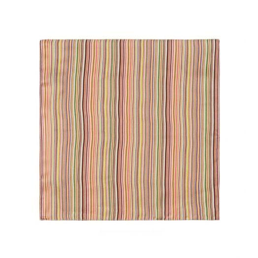 Multi-coloured Signature Stripe Silk Pocket Square