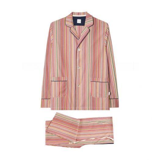 Signature Stripe Cotton Pyjama Set