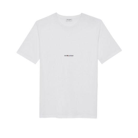 Signature Logo Print Crew Neck White T-shirt