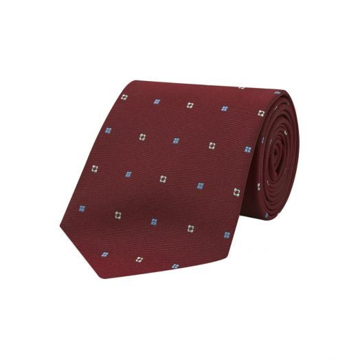Burgundy Notes Silk Tie