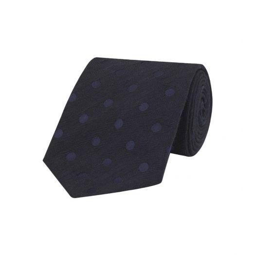 Grey Polka Dot Spot Blend Noile Tie