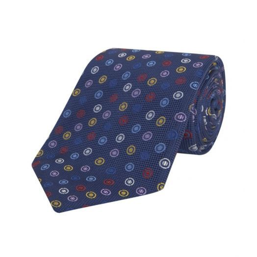 Navy Assorted Spot Silk Tie