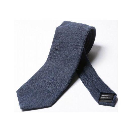 Blue Textured Cashmere Tie
