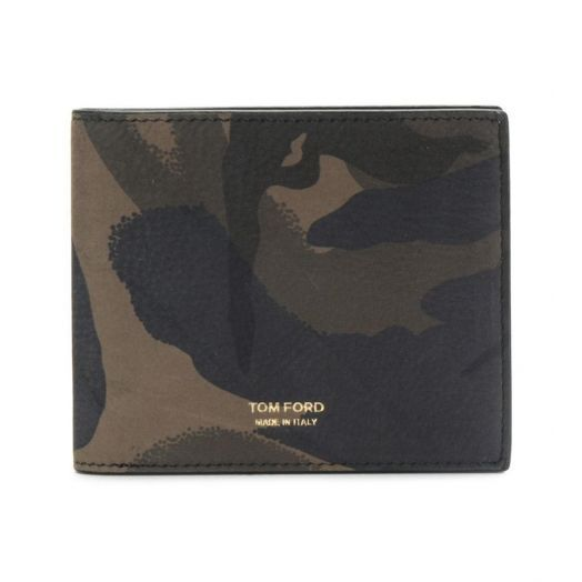 Camouflage Nubuck Leather Bifold Wallet