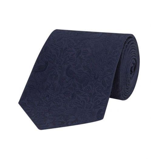 Regalis Navy Silk Tie