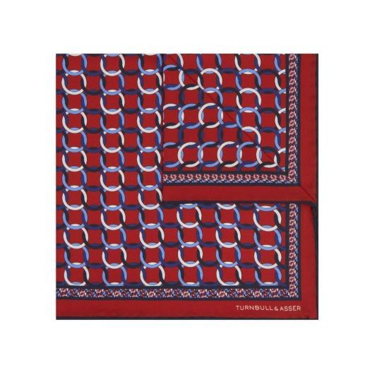 Red Rings Pocket Square