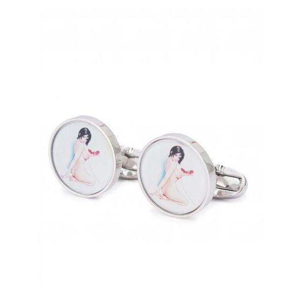 Naked Lady Print Cufflinks