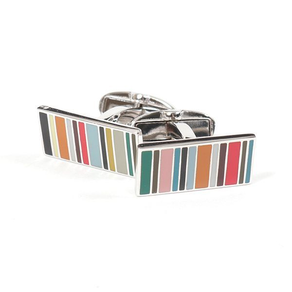 Multi-coloured Multistripe Cufflinks