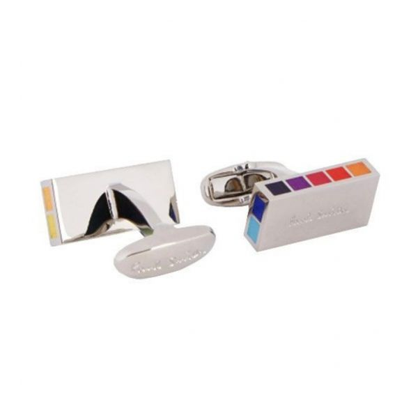 Multi-Coloured Logo Cufflinks