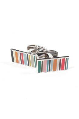 Multi-coloured Multistripe Cufflinks